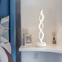 Load image into Gallery viewer, Spiral Modern Bedside Lamp