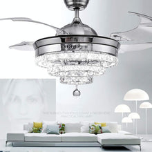 Load image into Gallery viewer, Luxury Crystal Ceiling Fan