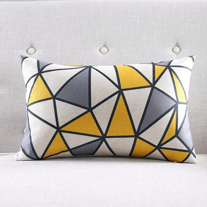 Yellow Geometric Decorative Cover