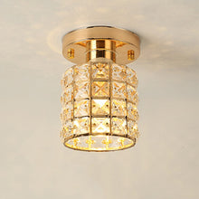 Load image into Gallery viewer, Crystal Flush Mount Ceiling Light