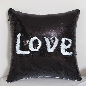 Reversible Sequin Throw Pillow Cover