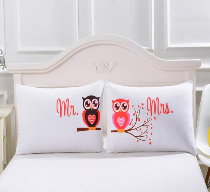Cartoon Owl 3D Print Pillow Case