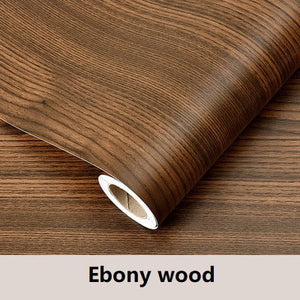 Waterproof Wood Vinyl Self Adhesive Wallpaper Roll
