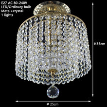 Load image into Gallery viewer, Modern Retro Crystal  Ceiling Light