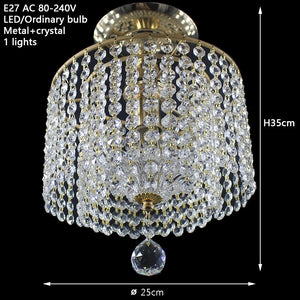 Modern Retro Crystal  Ceiling Light