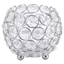 Load image into Gallery viewer, Crystal Tea Light Candle Holder