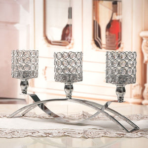 Crystal Candlestick Table Center