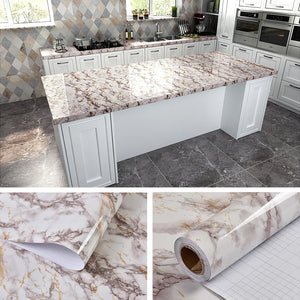 Marble Vinyl Film Self Adhesive Waterproof Wallpaper