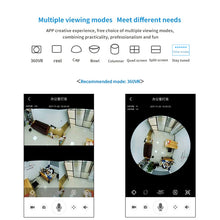 Load image into Gallery viewer, Videcam Wifi Panorama Security Camera