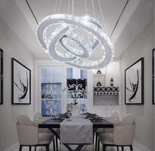 Load image into Gallery viewer, Modern Rings Crystal Chandelier