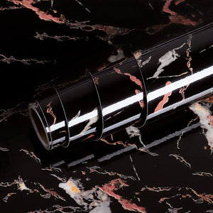 Black Gold Marble Vinyl Self Adhesive
