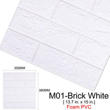 Load image into Gallery viewer, 10Pcs 3D DIY Brick Self-Adhesive Waterproof Wall Stickers