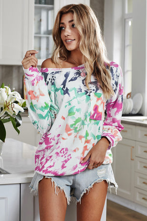 Top manches longues tie-dye