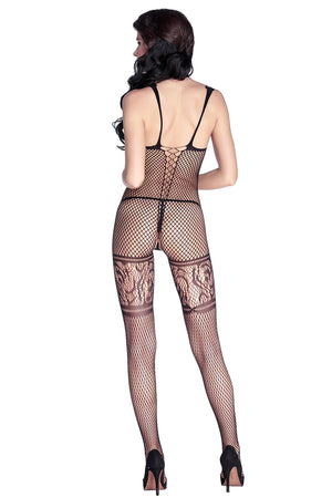 Bodystocking en dentelle diamant filet