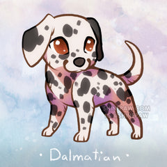 Chibi dog drawing