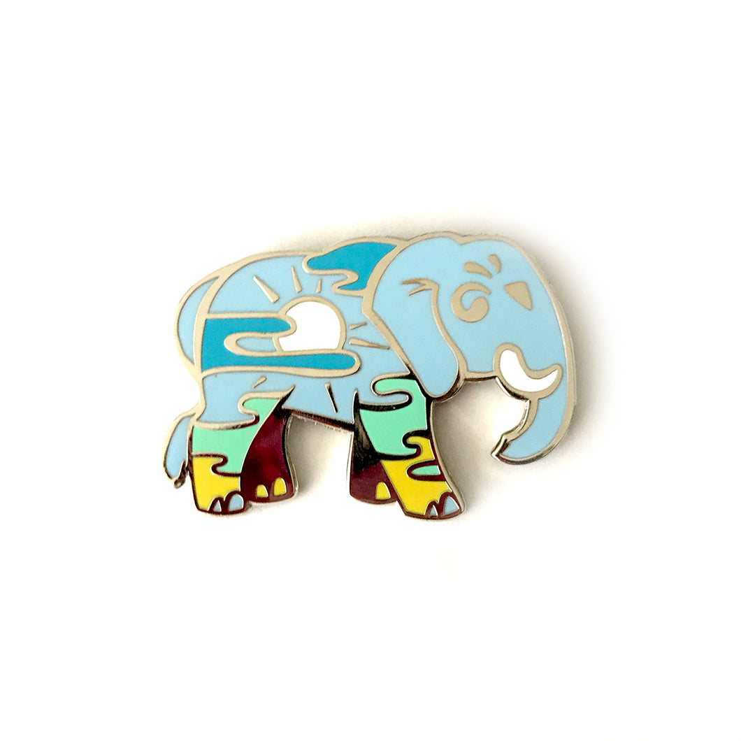 Afternoon Elephant Enamel Pin
