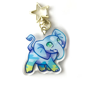 Afternoon Elephant Keyring