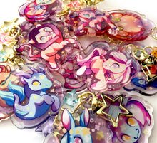 Load image into Gallery viewer, Pisces Charm Keyring