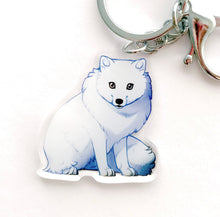 Load image into Gallery viewer, Arctic Fox Keyring