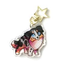 Load image into Gallery viewer, Australian Shpeherd Dog Keyring Charm
