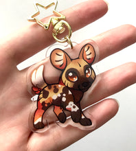 Load image into Gallery viewer, Painted Dog Keyring Charm
