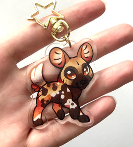 Painted Dog Keyring Charm