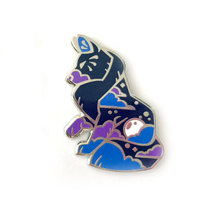 Blue Moon Wolf Enamel Pin