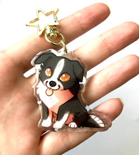 Load image into Gallery viewer, Border Collie Dog Keyring Charm