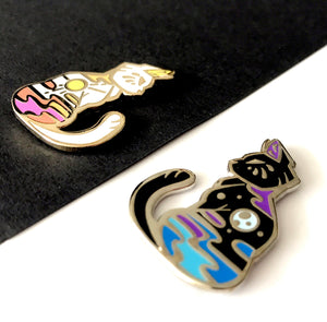 Black Moon Cat Enamel Pin