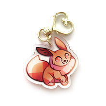 Load image into Gallery viewer, Eevee Keyring Charm
