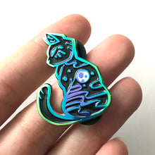 Load image into Gallery viewer, Full Moon Cat Rainbow Enamel Pin