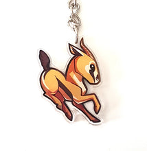 Load image into Gallery viewer, Chibi Gazelle Keyring Charm