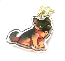 Load image into Gallery viewer, German Shepherd Dog Keyring Charm