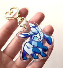Load image into Gallery viewer, Glaceon Keyring Charm