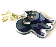 Load image into Gallery viewer, Graystripe Cat Keyring Charm