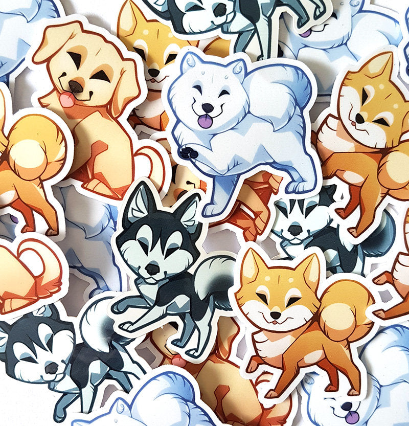 Cute Dog Sticker Set