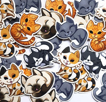 Load image into Gallery viewer, Cute Shorthair Cat Sticker Set