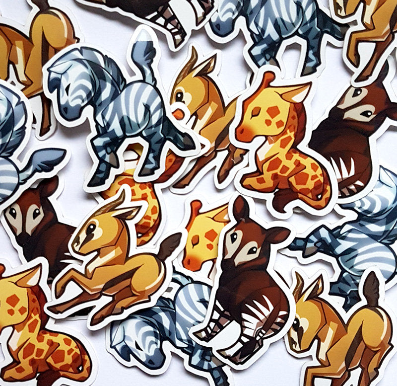 African Hoofed Animals Sticker Set