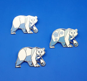 Angular Polar Bear Enamel Pin