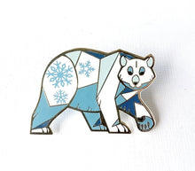 Load image into Gallery viewer, Angular Polar Bear Enamel Pin