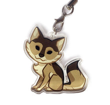 Load image into Gallery viewer, Chibi Brown Wolf Keyring Charm