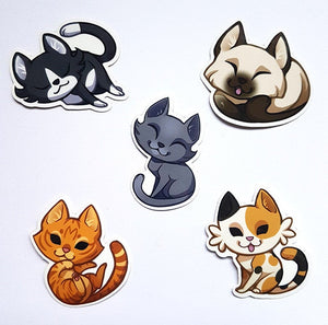 Cute Shorthair Cat Sticker Set