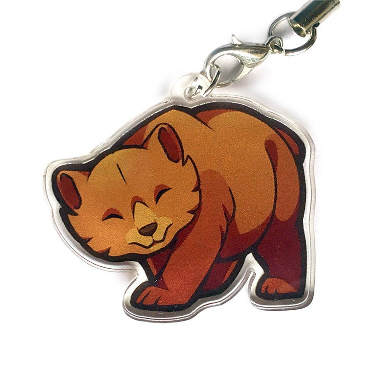 Chibi Brown Bears Keyring Collection