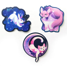 Load image into Gallery viewer, Cosmic Critters Vinyl Sticker Set