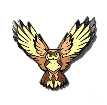 Load image into Gallery viewer, Angular Brown Owl Hard Enamel Pin