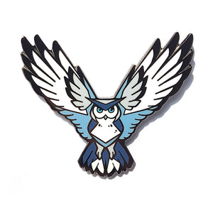 Angular White Owl Hard Enamel Pin