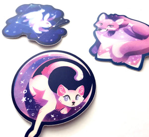 Cosmic Critters Vinyl Sticker Set