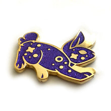 Load image into Gallery viewer, Cosmic Purple Glitter Rabbit Enamel Pin