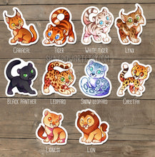 Load image into Gallery viewer, Cute Wild Cat Sticker Set
