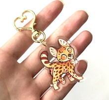 Load image into Gallery viewer, Serval Keyring Charm